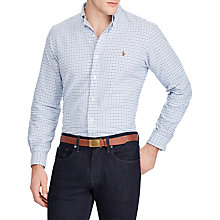 Buy Polo Ralph Lauren Check Oxford Custom Shirt Online at johnlewis.com