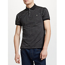 Buy Polo Ralph Lauren Slim Stripe Polo Shirt, Black/Foster Grey Heather Online at johnlewis.com