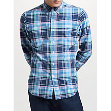 Buy Polo Ralph Lauren Slim Fit Check Oxford Shirt, Navy/Dawn Online at johnlewis.com
