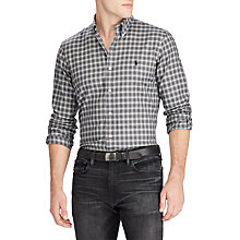Buy Polo Ralph Lauren Twill Custom Shirt, Charcoal/Ivory Online at johnlewis.com
