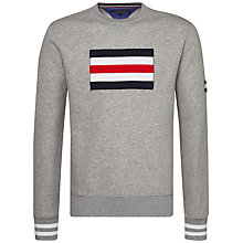Buy Tommy Hilfiger Ramone Signature Stripe Sweatshirt, Grey Online at johnlewis.com