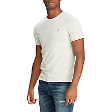 Buy Polo Ralph Lauren Slim FIt Crew Neck T-Shirt, New Sand Online at johnlewis.com