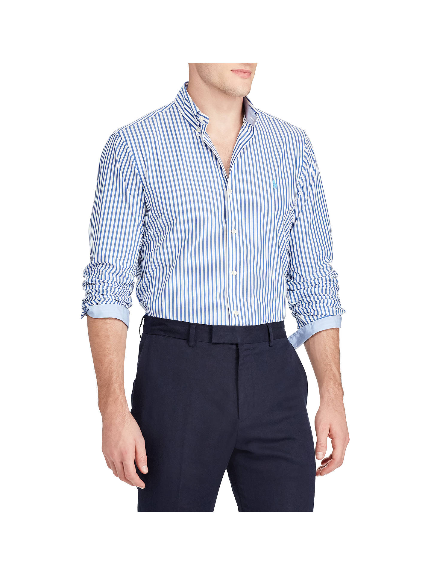 9ea4a454d Buy Polo Ralph Lauren Slim Fit Stripe Cotton Poplin Shirt