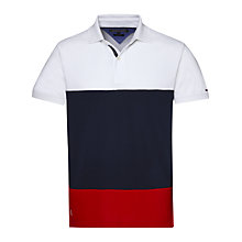 Buy Tommy Hilfiger Caleb Colour Block Polo Shirt, Multi Online at johnlewis.com