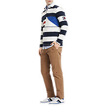 Buy Tommy Hilfiger Ricky Stripe Rugby Shirt, Navy/White Online at johnlewis.com