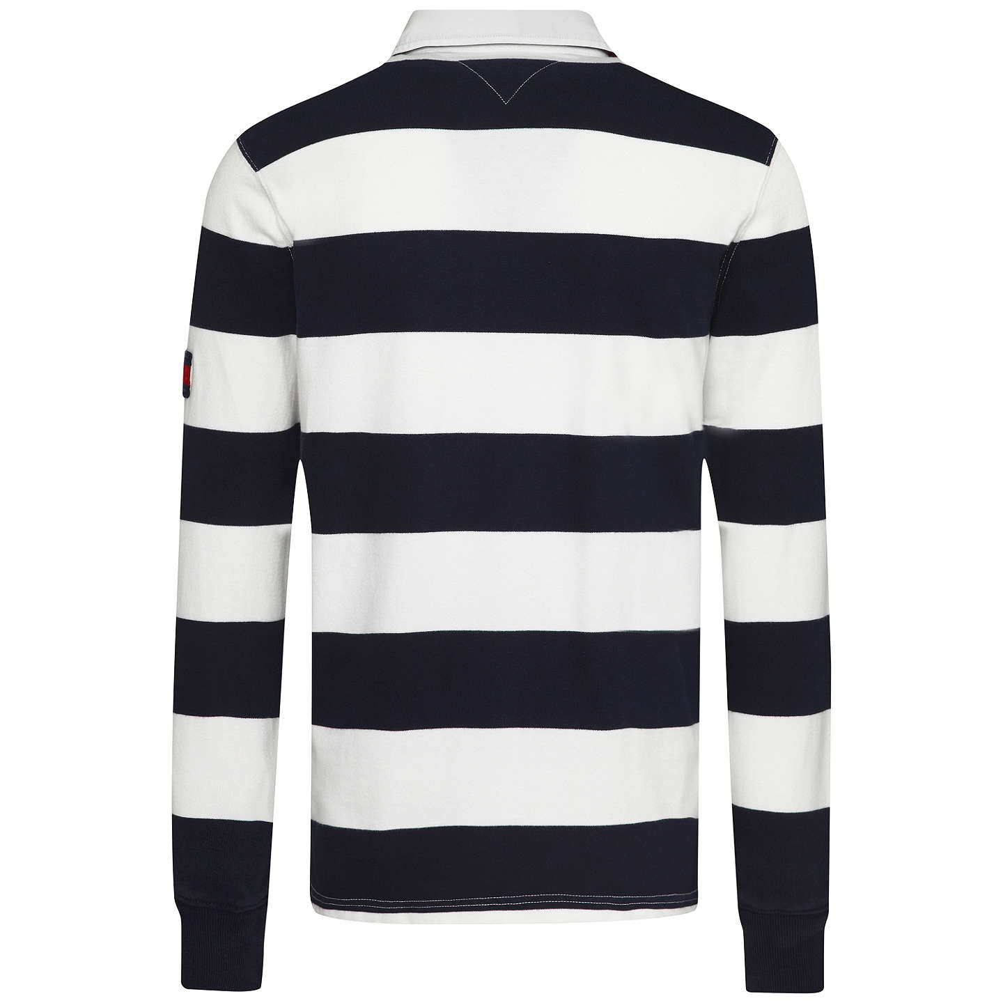 Tommy Hilfiger Ricky Stripe Rugby Shirt Navy White M Online At Johnlewis