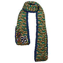 Buy Fat Face Children's Camouflage Badge Scarf, Green Online at johnlewis.com