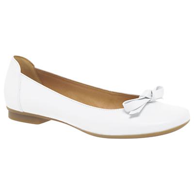 Gabor Craiglea Bow Pumps, White Leather