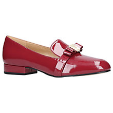 Buy MICHAEL Michael Kors Caroline Bow Loafers, Wine Patent Leather Online at johnlewis.com