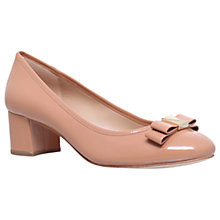 Buy MICHAEL Michael Kors Caroline Bow Court Shoes, Nude Patent Leather Online at johnlewis.com