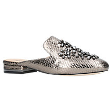 Buy MICHAEL Michael Kors Edie Slide Pumps, Silver Patent Leather Online at johnlewis.com