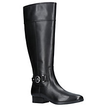 Buy MICHAEL Michael Kors Harland Knee High Boots, Black Leather Online at johnlewis.com