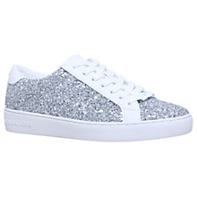 Buy MICHAEL Michael Kors Irving Flat Trainers, Silver Online at johnlewis.com