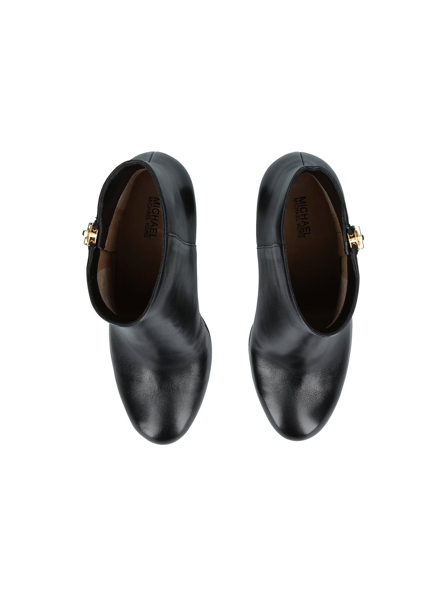 2ad7b810723 MICHAEL Michael Kors Margaret Block Heel Ankle Boots at John Lewis ...