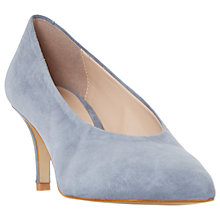 Buy Dune Amorell Kitten Heeled Court Shoes, Grey Suede Online at johnlewis.com