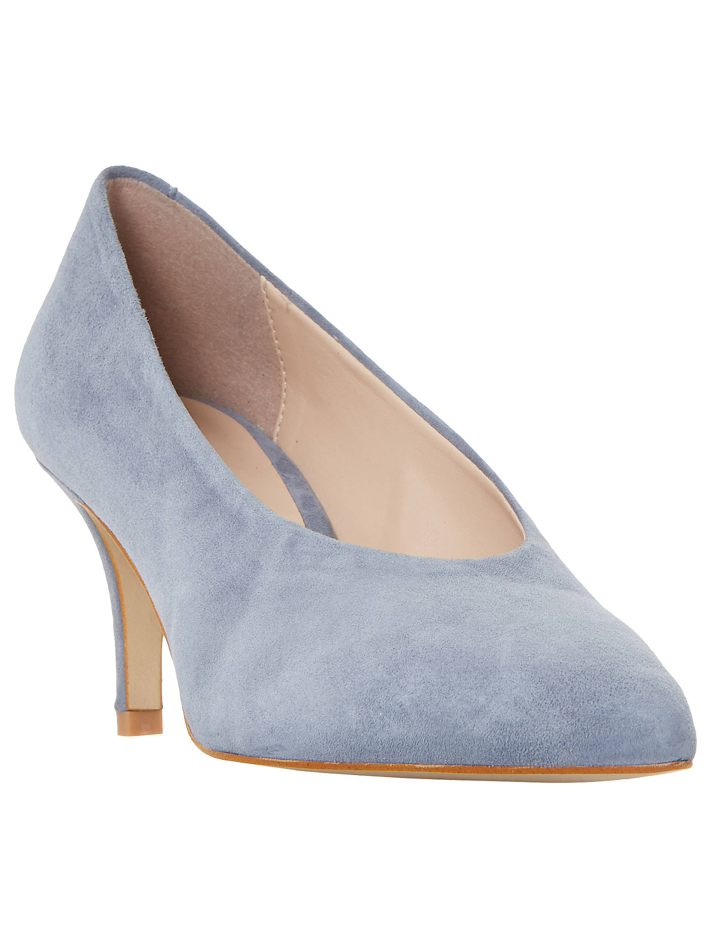 46d0c7fda22a9 Buy Dune Amorell Kitten Heeled Court Shoes, Grey Suede, 3 Online at  johnlewis.