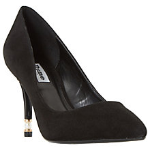 Buy Dune Brioney Faux Pearl Stiletto Heeled Court Shoes, Black Suede Online at johnlewis.com