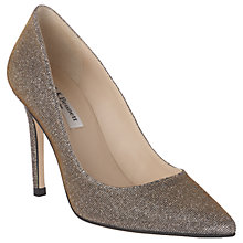 Buy L.K. Bennett Fern Pointed Toe Leather Court Shoes, Bronze Online at johnlewis.com