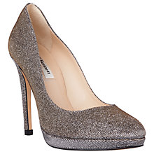 Buy L.K. Bennett Sledge Platform Court Shoes, Bronze Lurex Online at johnlewis.com