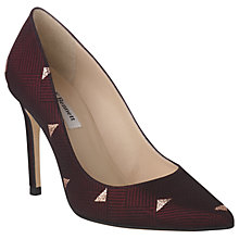 Buy L.K. Bennett Fern Pointed Toe Leather Court Shoes, Ruby Red Online at johnlewis.com