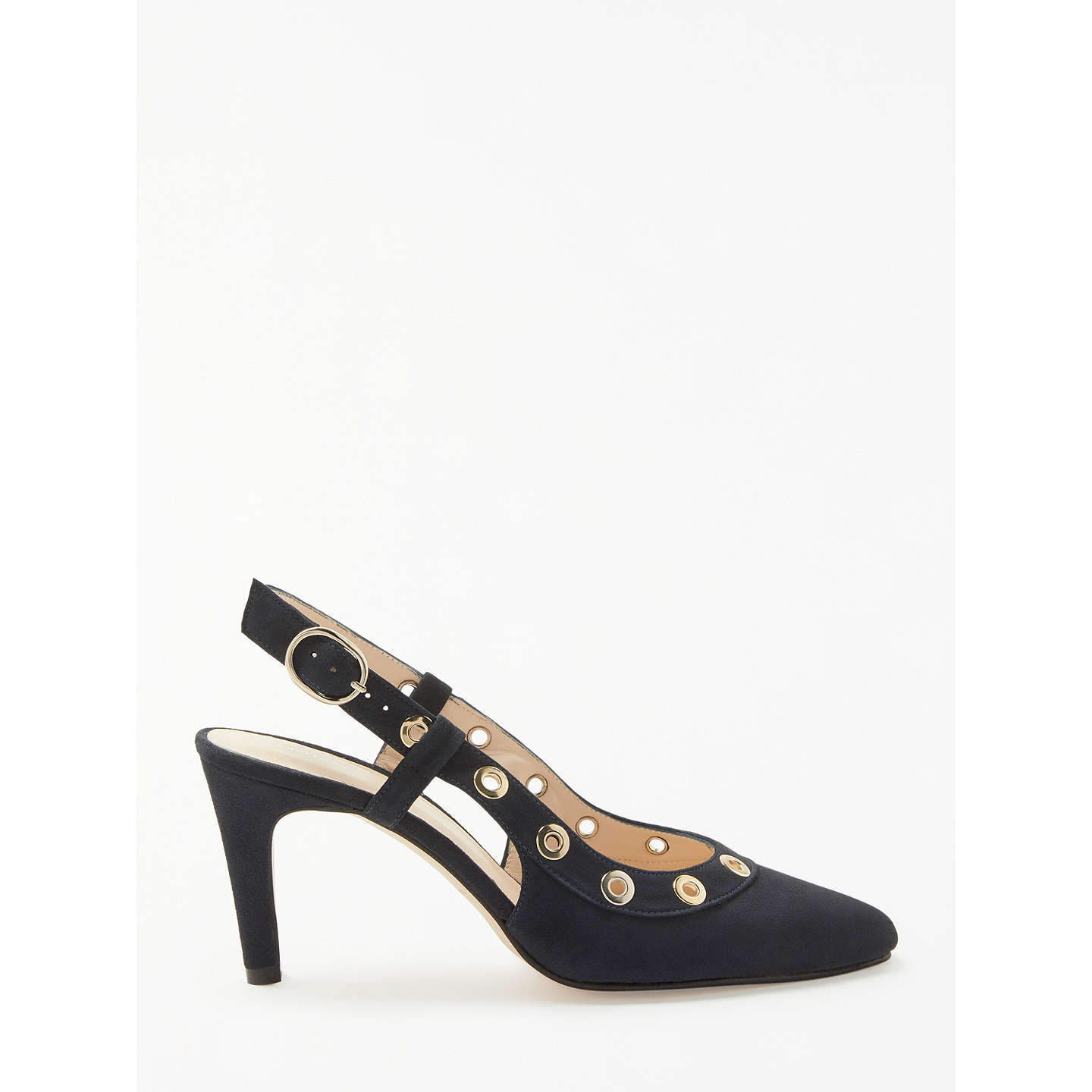 BuyJohn Lewis Alex Eyelet Court Shoes, Navy Suede, 3 Online at johnlewis.com