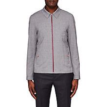Buy Ted Baker Parr Checked Harrington Jacket, Grey Online at johnlewis.com