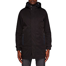 Buy Ted Baker Stack Mac Coat, Black Online at johnlewis.com
