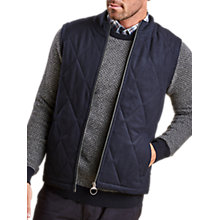 Buy Barbour Lifestyle Barra Gilet, Navy Online at johnlewis.com