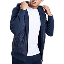 Buy Barbour International Baffle Hoodie, Navy Online at johnlewis.com