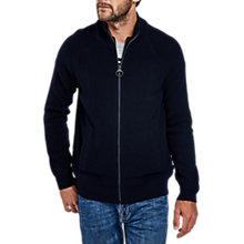 Buy Barbour International Camber Zip Through Cardigan, Navy Online at johnlewis.com