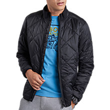 Buy Barbour International Gabion Quilted Jacket, Black Online at johnlewis.com