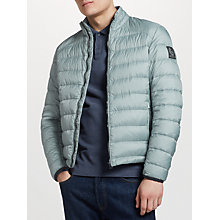 Buy Belstaff Ryegate Quilted Down Jacket, Light Chambray Online at johnlewis.com