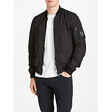 Buy Belstaff Mallison Water Repellent Bomber Jacket, Black Online at johnlewis.com