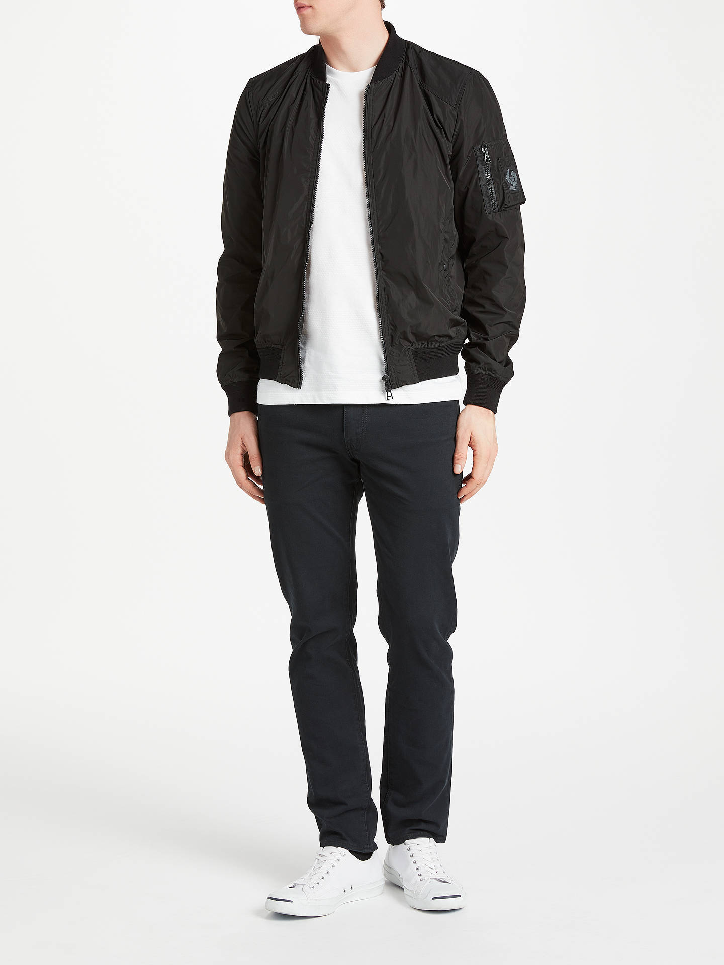 b028e8e5a Belstaff Mallison Water Repellent Bomber Jacket, Black at John Lewis ...