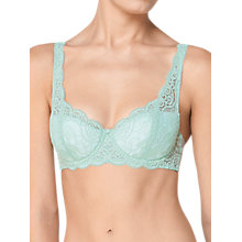 Buy Triumph Amourette 300 Padded Underwired Bra, Fondant Green Online at johnlewis.com