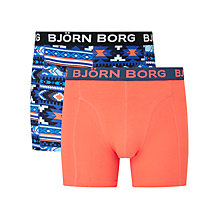 Buy Bjorn Borg Navajo Plain Trunks, Pack of 2, Blue/Orange Online at johnlewis.com