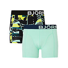 Buy Bjorn Borg Courtline Shade Trunks, Pack of 2, Green Online at johnlewis.com