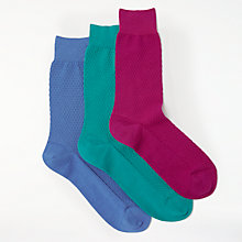 Buy John Lewis Made in Italy Texture Socks, Pack of 3 Online at johnlewis.com