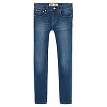 Buy Levi's Boys' Skinny Fit Jeans, Dark Blue Online at johnlewis.com