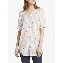 Buy Numph Arza Blouse, Cloud Grey Online at johnlewis.com