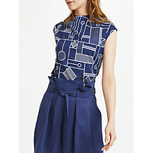 Buy Numph Belia Blouse, Blue Print Online at johnlewis.com