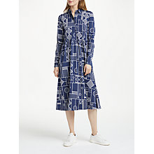 Buy Numph Arnelle Dress, Blue Print Online at johnlewis.com
