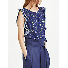 Buy Numph Arpina Ruffle Sleeve Blouse Online at johnlewis.com