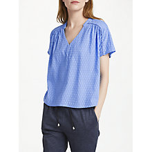 Buy Numph Branwen Blouse, Marine Online at johnlewis.com