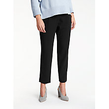 Buy Weekend MaxMara Dono Crepe Trousers, Black Online at johnlewis.com