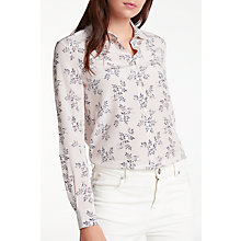 Buy Weekend MaxMara Giulio Sprig Print Shirt, Pink Online at johnlewis.com