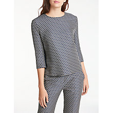 Buy Weekend MaxMara Molo Jacquard Front Top, Ultramarine Online at johnlewis.com