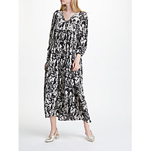 Buy Weekend MaxMara Mattino Floral Print Silk Dress, Black/Multi Online at johnlewis.com
