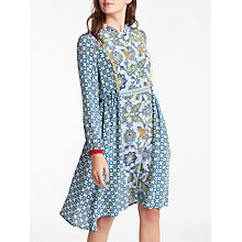 Buy Weekend MaxMara Vite Silk Crepe de Chine Dress, Navy Online at johnlewis.com