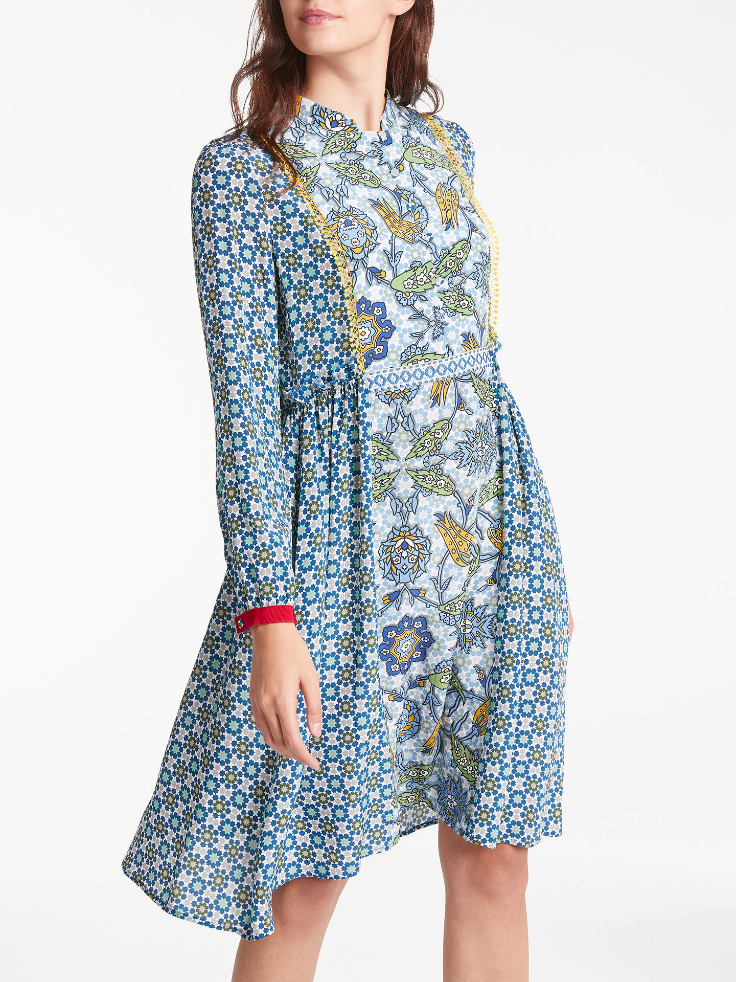 c2193fff2c2a Buy Weekend MaxMara Vite Silk Crepe de Chine Dress, Navy, 10 Online at  johnlewis ...
